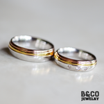 Bratislava Three Tone Wedding Rings