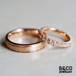 Minimalist Tres Modified Wedding Rings