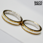 Skiathos Two Tone Wedding Rings