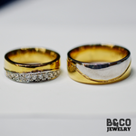 Cairo Two Tone Wedding Rings