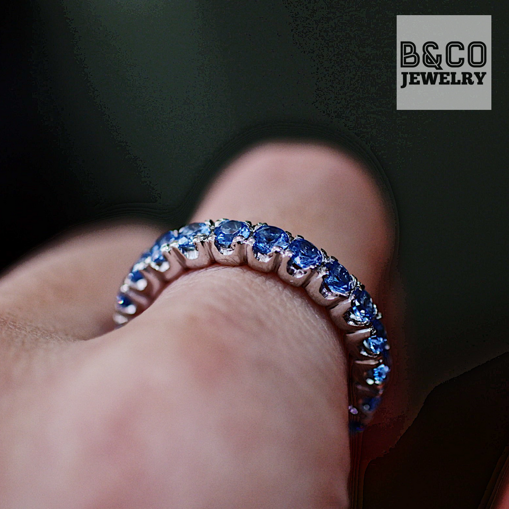 3mm Scallop Eternity Ring Gemstone