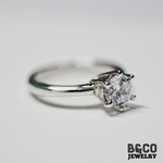 1ct Solitaire 6-prong Engagement Ring