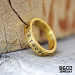 Handstampped Name Rings