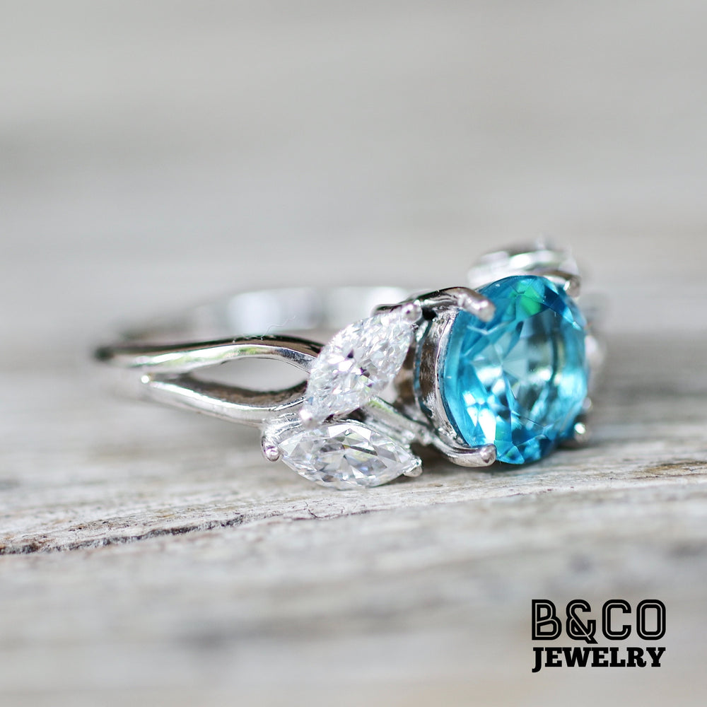 2ct Flower Engagement Ring