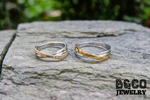 Signoria Two Tone Wedding Rings