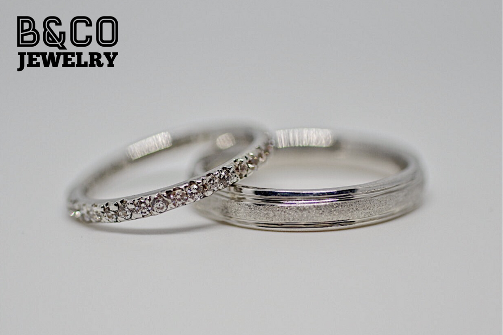 Minimalist Duo Wedding Rings