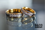 Tuscany Premier Two Tone Wedding Rings
