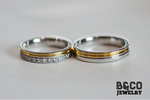 Arezzo Premier Two Tone Wedding Rings
