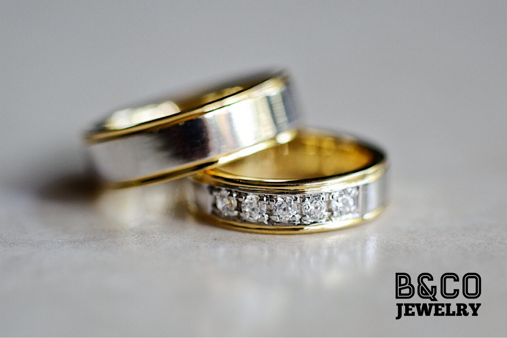 Tuscany Two Tone Wedding Rings