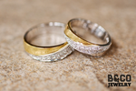 Sicily Two Tone Wedding Rings