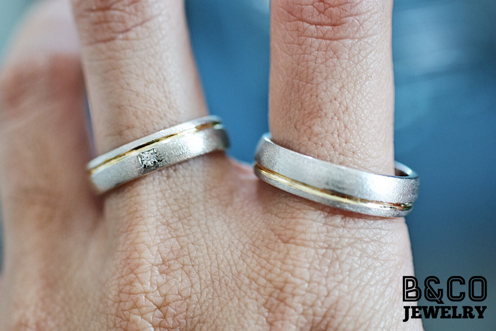 San Marino Two Tone Wedding Rings