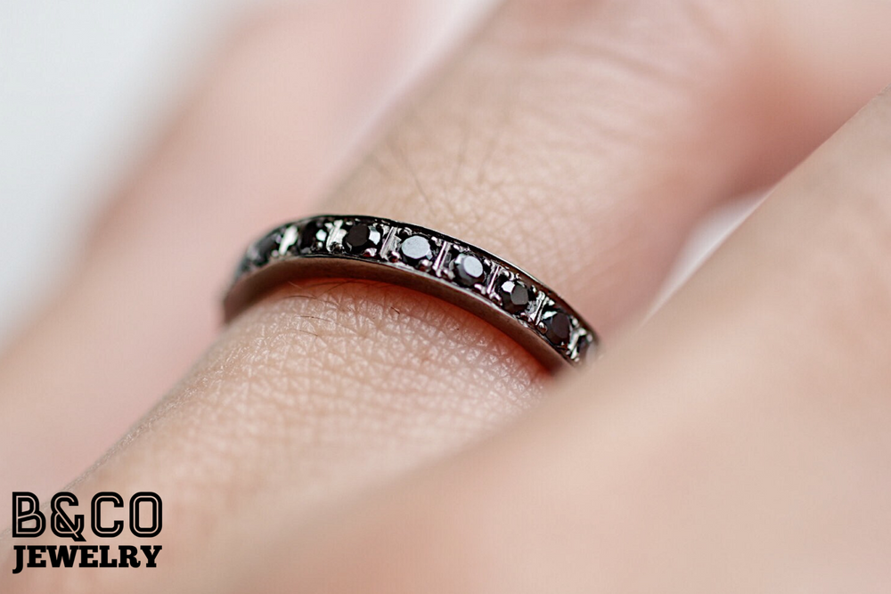 2mm Black Eternity Ring