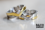 Civico Two Tone Wedding Rings