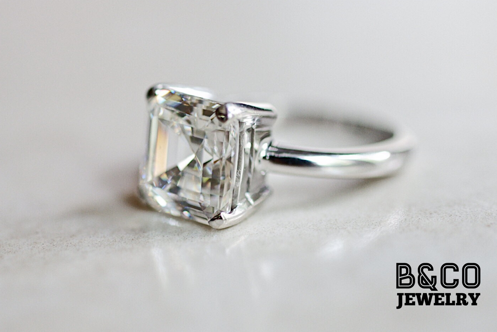 3ct Asscher Cut Engagement Ring