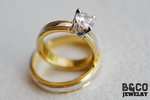 Como Two Tone Wedding Rings