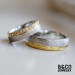 Maddalena Two Tone Wedding Rings
