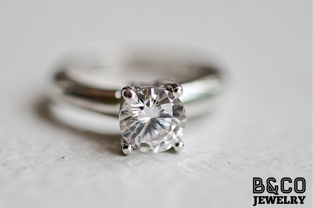 1ct Solitaire 3mm Engagement Ring