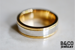 Algarve Two Tone Wedding Rings