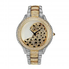 18k Gold Iced Out Watch ( 5 Available Colors )