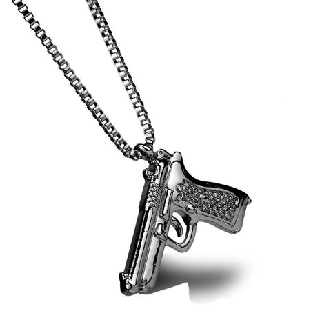 Image of 18k Gold Pistol Pendant