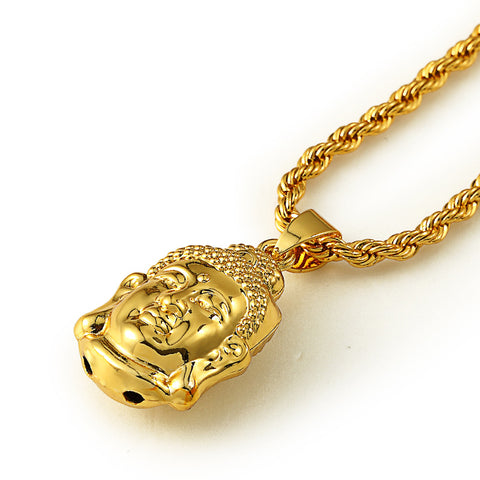 Image of 18k Gold Buddah Pendant (60cm and 70cm)