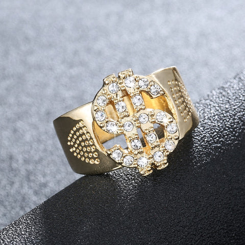 18k Gold Iced Out Ring