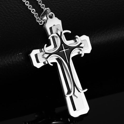Gold and Silver Stainless Steel Cross
