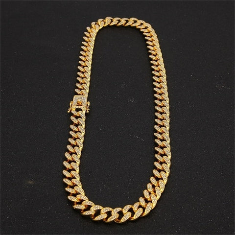 18k Gold Iced out Miami Cuban Link chain ( 8inch - 30 Inch long )