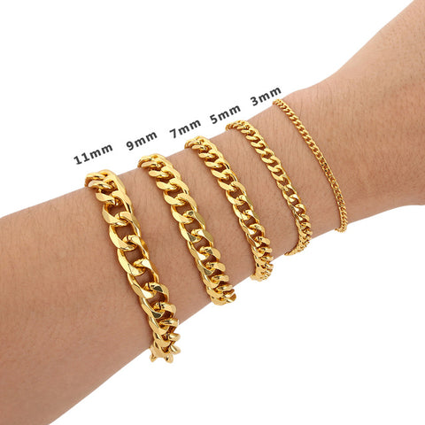 Image of 18k Gold Cuban Link Bracelet