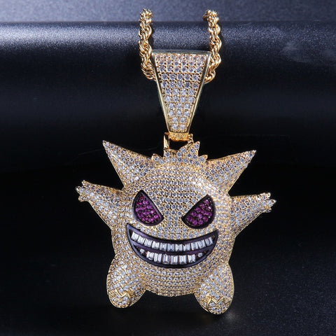 18k Gold Iced Out Pendant