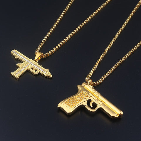 18k Golden M1911 and Iced Up Uzi ( 60cm )