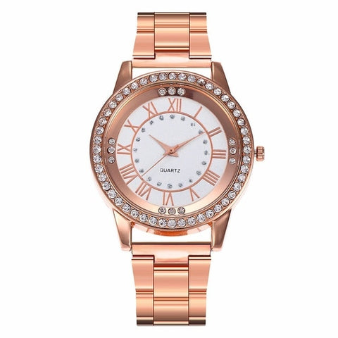 Image of 18k Rosegold Iced Out Watch