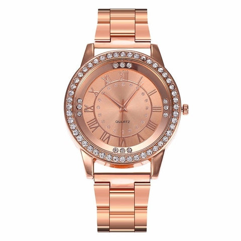 18k Rosegold Iced Out Watch