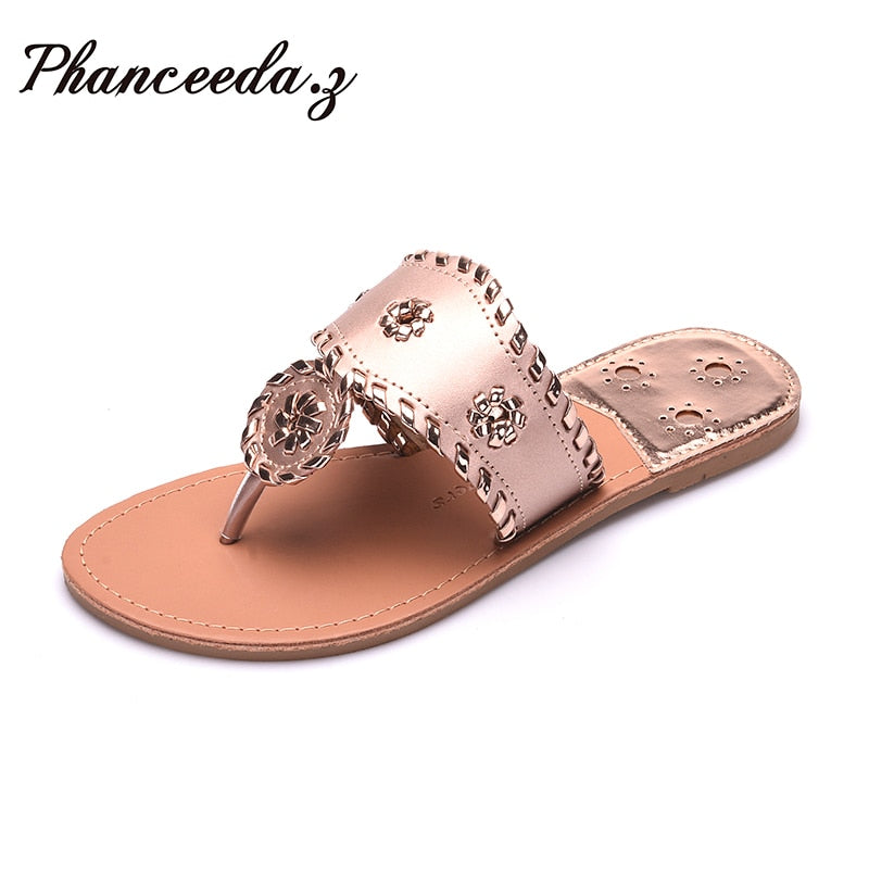 57399091 New 2018 Shoes Women Sandals Fashion Flip Flops Summer Style Hair ball  Chains Flats Solid Slippers