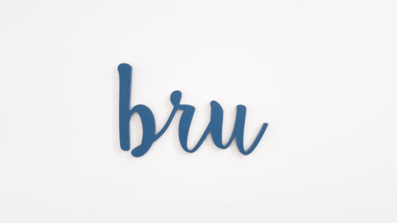 Bru - slang wooden words