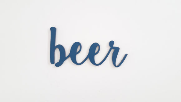 beer - wooden words