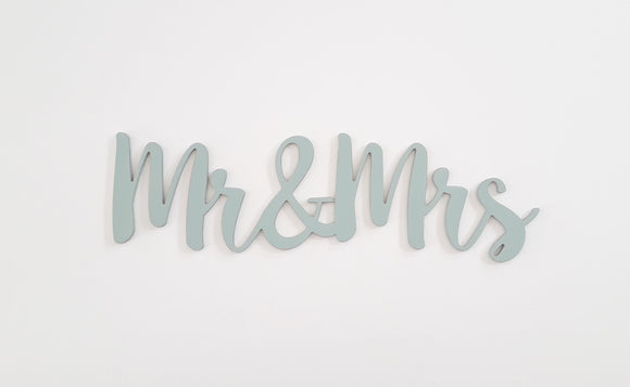 Mr & Mrs wooden words for wedding decor