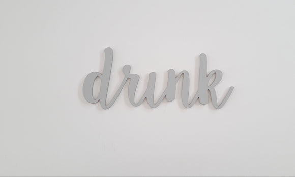 wooden words - drink wooden sign