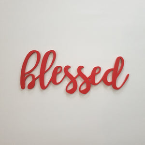 Blessed wooden word - religious