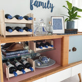 Wine rack. modular wine rack, stackable wine rack