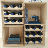 Wine racks display units