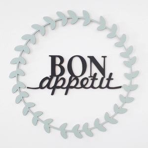 Bon Apetit wooden word wall art wooden word wooden sign kitchen decor