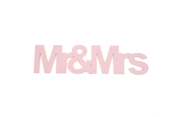 mr&mrs wooden words wedding decor