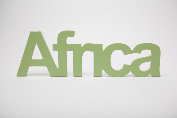 wooden word Africa