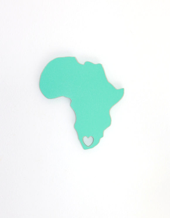 Africa with heart - wooden wall art