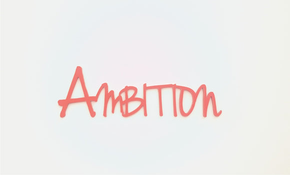 Ambition - wooden word