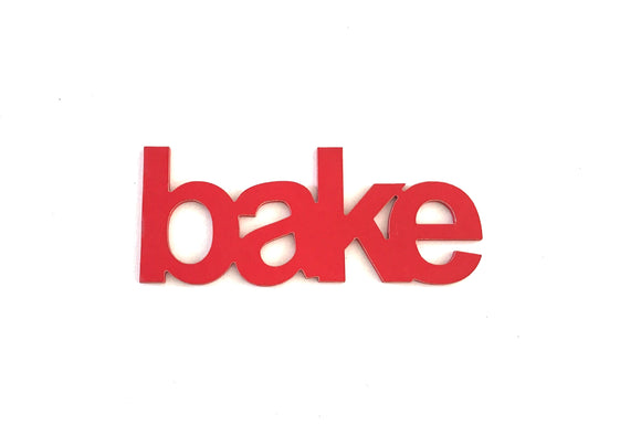 Bake - Wooden words - kitchen décor