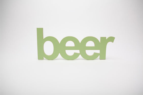 beer - wooden words - fathers day