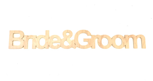 Bride & Groom wooden wedding deocr