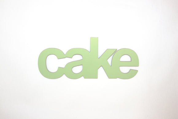 Cake - wooden words